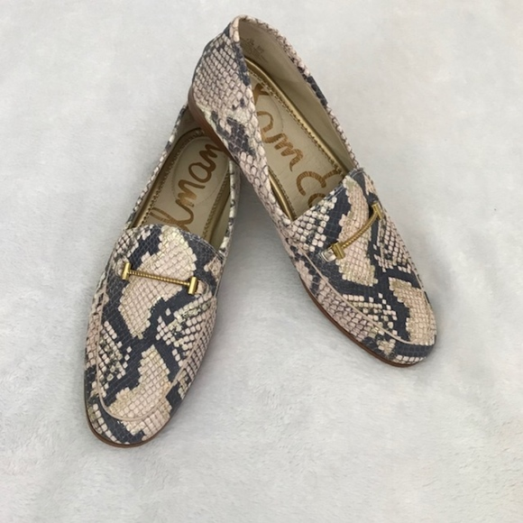 1b492d308 Sam Edelman Loraine Snake Print Leather Loafers. M_5b27fcb2aaa5b85466273f5b